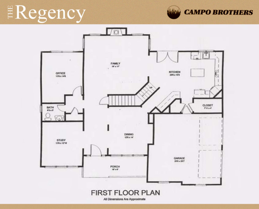 Floor plans campo brothers long island construction for Regency house plans