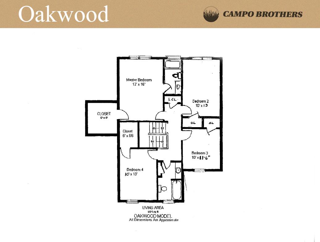 Oakwood Model Second Floor