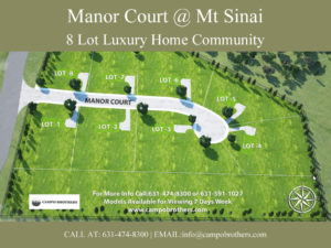 Manor Court @ Mt Sinai 8 Lot Luxury Home Community